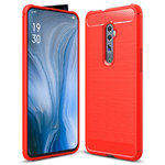 Flexi Carbon Fibre Case for Oppo Reno 5G / 10x Zoom - Brushed Red